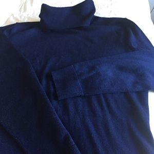 Lord and Taylor- navy merino wool turtleneck